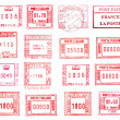 Rectangular postmarks — Stock Photo #32167835