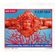 Italian stamps crafts Coral Tower of the Greek — ストック写真