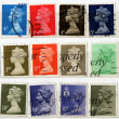 gamme de uk timbres-poste — Photo