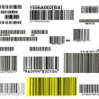 Bunch of bar codes — Stock Photo