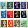 Range of UK postage stamps — Stockfoto