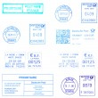 Blue europepostmarks — Stock Photo #32168253