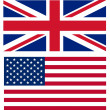Stock Photo: Union jack and American flag