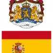 Spain, flag and coat of arms — Stock Photo