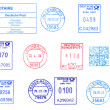 Bunch of German postmarks — Stock Photo