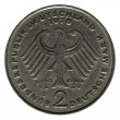 Stock Photo: Two Germmarks (2 Deutsche Mark) coin