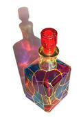Coloured glass bottle — 图库照片