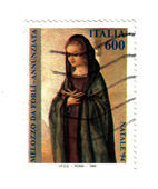 Italian post stamp, Mary announced — Foto Stock