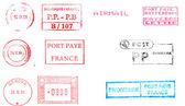 Old european postmarks — Stock Photo