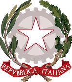 Italian coat of arms — Stock Photo