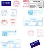 German postmarks — Stock Photo