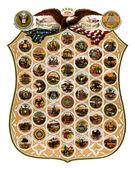 Emblem states of America (1876) — Zdjęcie stockowe