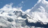 Monte Rosa (pink mountain). Italian side — Stock Photo