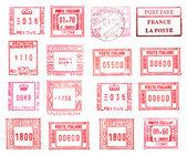 Rectangular postmarks — Stock Photo