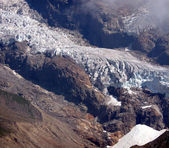 Glacier of Monte Rosa (pink mountain). Italian side — Stock Photo