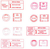 English postmarks — Stock Photo