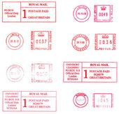 English postmarks — Stock Photo