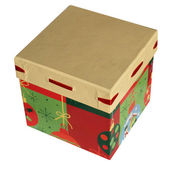 Christmas gift box isolated over white — Stock Photo
