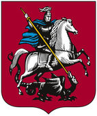 Moscow, coat of arms — Stock Photo