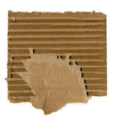 Piece of brown cardboard — Stock Photo