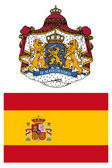 Spain, flag and coat of arms — Stockfoto