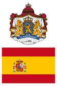 İspanya, bayrak ve silah kat — Stok fotoğraf