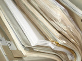 Office paper documents in a folder — Stock Photo