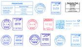Bunch of German postmarks — Stock Photo