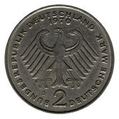 Two German marks (2 Deutsche Mark) coin — Stock Photo