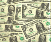 One dollar notes backgroud — Stock Photo