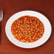 Baked bean dinner — Stock Photo