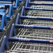 Tesco Shopping Carts — Stock Photo