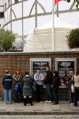 Queue at The Globe Theatre, London — Stock Photo