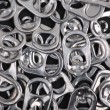 Metal Ring Pulls Background — Stock Photo