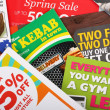 Junk Mail Flyers - Stok fotoraf