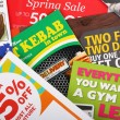 Junk Mail Flyers - Foto Stock