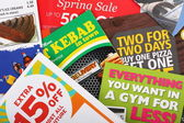 Junk Mail Flyers — Foto Stock