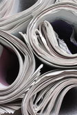 Rolled up Newspapers — Stock Photo