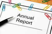 Annual Report Document — Stock Photo