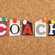 The word Coach — Foto de Stock