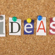 The word Ideas — Stock Photo