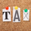 The word Tax — Stock Photo