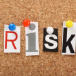 Stock Photo: Word Risk