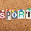 The word Sport — Stock Photo