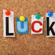 The word Luck — Stock Photo