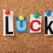 The word Luck — Stock Photo #29173129