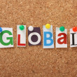 Постер, плакат: The word Global