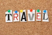 The word Travel — Stock Photo