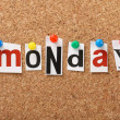 The word Monday — Stock Photo
