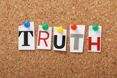 The word Truth — Stock Photo
